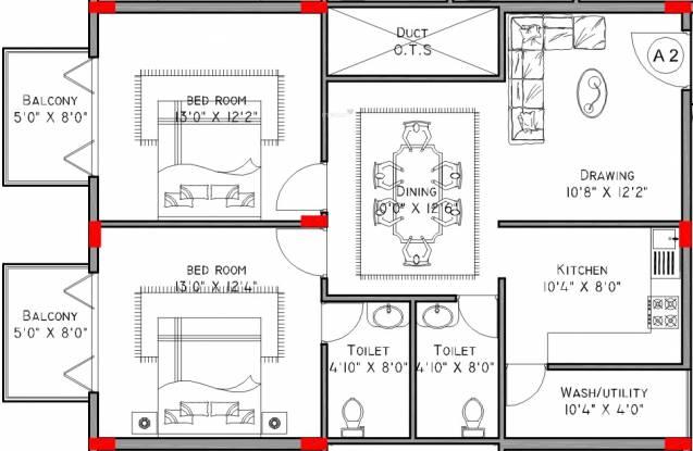 SVS Sri Nilayam (2BHK+2T (1,150 sq ft) Apartment 1150 sq ft)
