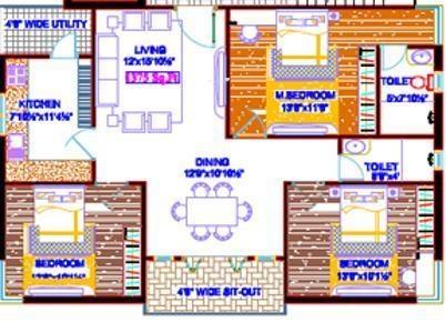 Progressive Anand Nagar (3BHK+2T (1,450 sq ft) Apartment 1450 sq ft)
