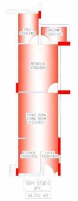 Shrachi Greenwood Elements (1BHK+1T (722 sq ft) Apartment 722 sq ft)