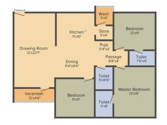 Sangath Pylon (3BHK+3T (1,809 sq ft) Apartment 1809 sq ft)