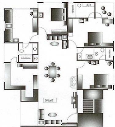 Sangath Silver ABCD (3BHK+3T (1,500 sq ft) Apartment 1500 sq ft)
