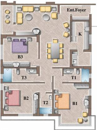 Heritage Astral (3BHK+3T (2,315 sq ft) Apartment 2315 sq ft)