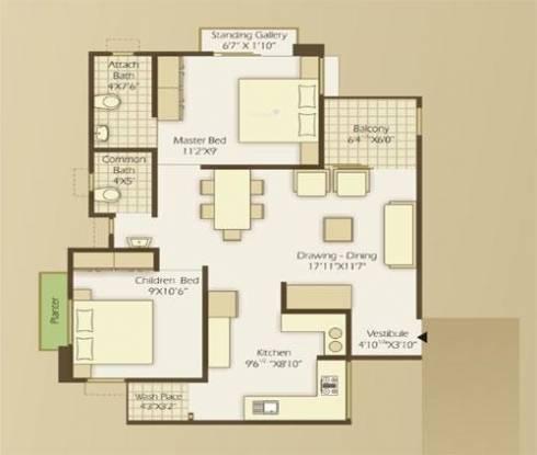 Nila Asmaakam (2BHK+2T (1,080 sq ft) Apartment 1080 sq ft)