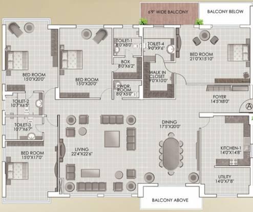 South Galaxy (4BHK+4T (4,900 sq ft) Apartment 4900 sq ft)