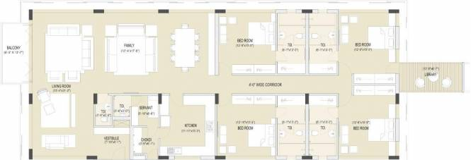 Olive Grace Olive Grace (4BHK+4T + Servant Room)