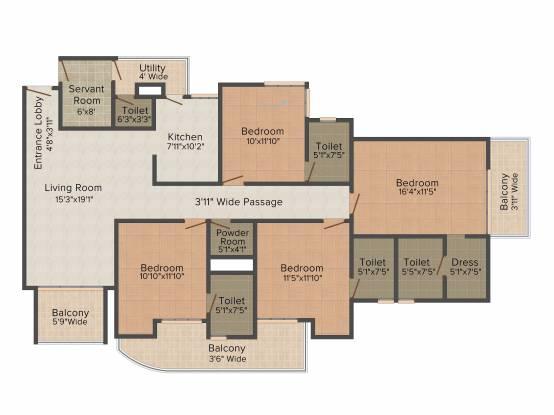 Essem Ele Vana (4BHK+4T (3,080 sq ft) + Servant Room Villa 3080 sq ft)