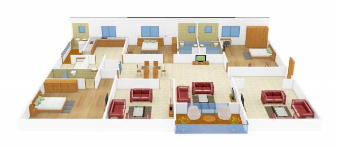 Vamsiram Jyothi Anri (3BHK+3T (3,125 sq ft) + Pooja Room Apartment 3125 sq ft)