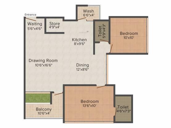Shree Rang Shree Rang Oasis (2BHK+2T (1,305 sq ft) Apartment 1305 sq ft)