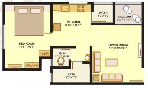 Shree Rang Nano City 1 And 2 (1BHK+1T (585 sq ft) Apartment 585 sq ft)