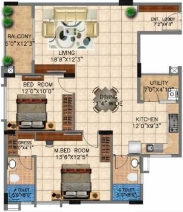 Vedant Vihas (2BHK+2T (1,080 sq ft) Apartment 1080 sq ft)
