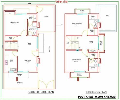 Dhoot Vistara Villa (3BHK+3T (1,877 sq ft) Villa 1877 sq ft)