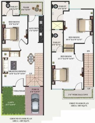 Om Ganpati Homes (3BHK+3T (970 sq ft) Villa 970 sq ft)