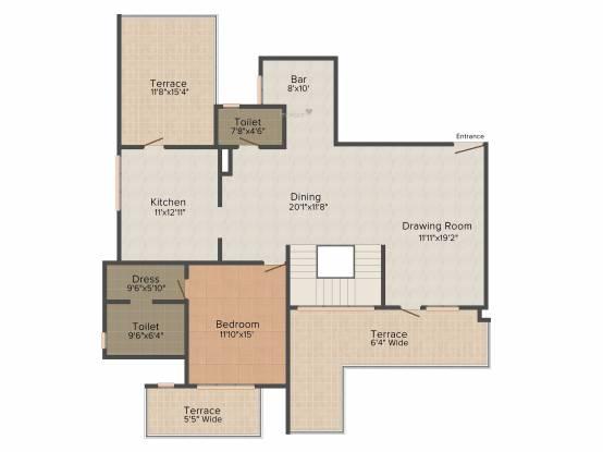 SPR Imperial Royaute (4BHK+4T (4,124 sq ft) Apartment 4124 sq ft)