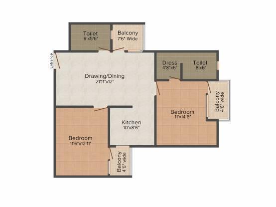 Pushpanjali Seasons (2BHK+2T (1,250 sq ft) Apartment 1250 sq ft)