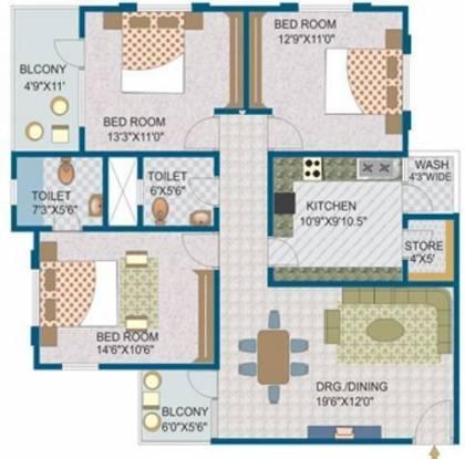Bhawna Housing Estate Apartment Bhawna Housing Estate Apartment (3BHK+3T)