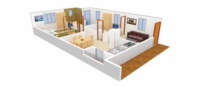 Square Prasoona (3BHK+3T (1,360 sq ft) Apartment 1360 sq ft)