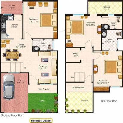 Fortune Tulip Greens (3BHK+3T (1,520 sq ft) + Pooja Room Villa 1520 sq ft)