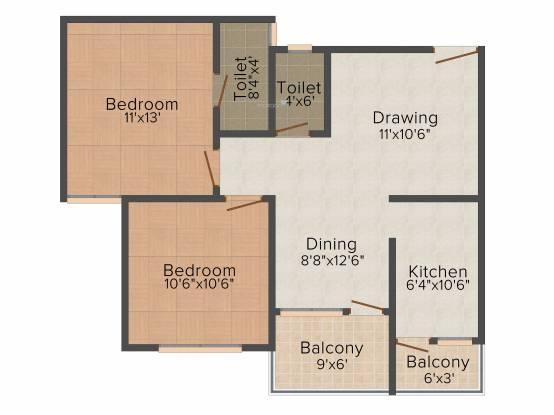 Soumya Parklands (2BHK+2T (939 sq ft) Apartment 939 sq ft)