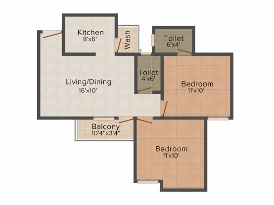 IBD Hallmark Citii (2BHK+2T (785 sq ft) Apartment 785 sq ft)