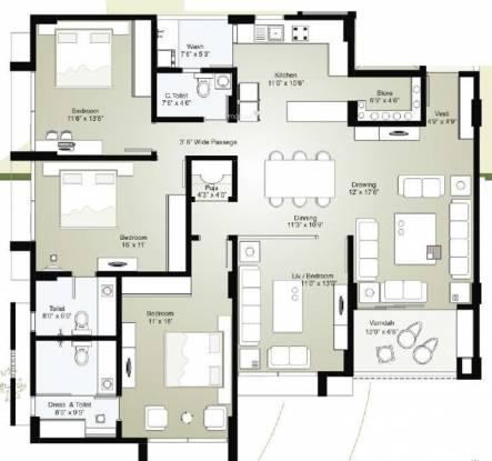 Sambhav Stavan Anitra (3BHK+3T (2,700 sq ft) Apartment 2700 sq ft)