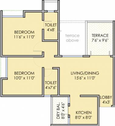 Krishna Aeropolis (2BHK+2T (922 sq ft) Apartment 922 sq ft)