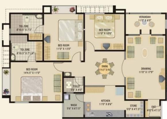 Rushabhdev Sharan Status (3BHK+3T (1,872 sq ft) Apartment 1872 sq ft)