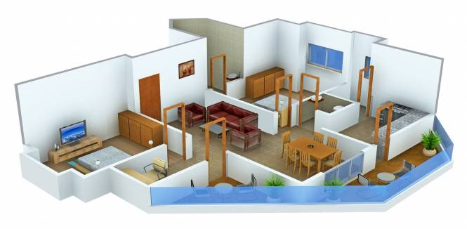 BCM Planet Phase 1 (2BHK+3T (1,720 sq ft) + Study Room Apartment 1720 sq ft)