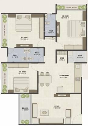 PSY Pramukh Oasis (3BHK+3T (1,674 sq ft) Apartment 1674 sq ft)