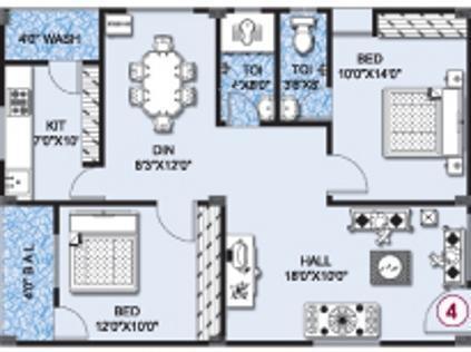 Umas Srikar Mansion (2BHK+2T (1,050 sq ft) Apartment 1050 sq ft)