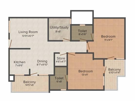 Shubham Gold Homes (2BHK+2T (1,320 sq ft) Apartment 1320 sq ft)