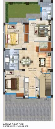 GBP Rosewood Estate Apartment (3BHK+3T (1,496 sq ft) Apartment 1496 sq ft)