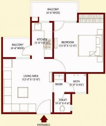 Bajwa Sunny Urban Greens (1BHK+1T (730 sq ft) Apartment 730 sq ft)