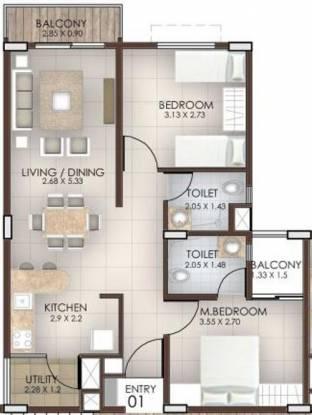 Columbia Peepal Tree (2BHK+2T (1,164 sq ft) Apartment 1164 sq ft)
