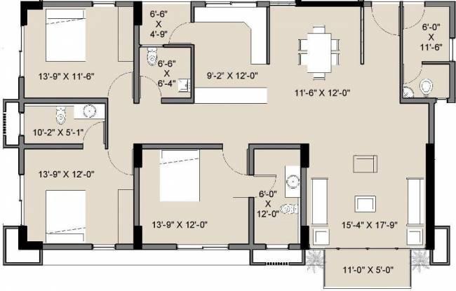 Amaya 612 Elevate (3BHK+3T (1,750 sq ft) Apartment 1750 sq ft)