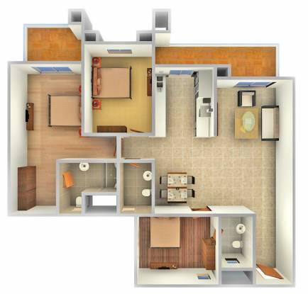 Kolte Patil 24K Glamore (3BHK+3T (1,685 sq ft) Apartment 1685 sq ft)