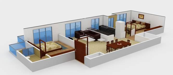 Patkon Vishwamukha (2BHK+2T (1,200 sq ft) Apartment 1200 sq ft)