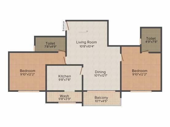 NCC Senate (2BHK+2T (1,133 sq ft) Apartment 1133 sq ft)