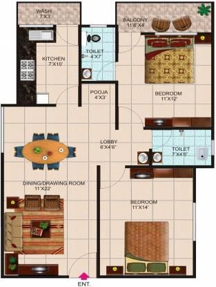 Agrawal Sagar Landmark (2BHK+2T (1,050 sq ft) Apartment 1050 sq ft)
