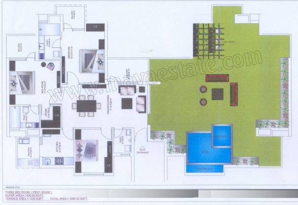 Maya Garden3 EXT (3BHK+3T (3,060 sq ft) Apartment 3060 sq ft)
