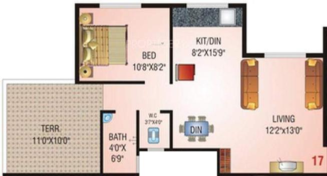 Nisarg Sahara (1BHK+1T (638 sq ft) Apartment 638 sq ft)