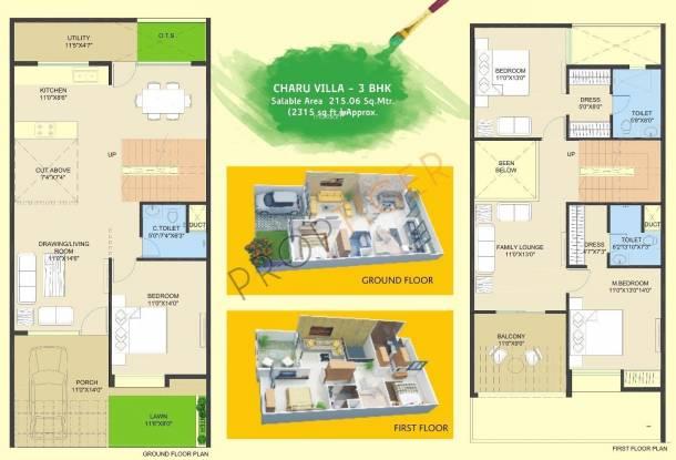 Samarth Shikharji Dreamz Villas (3BHK+3T (2,315 sq ft) Villa 2315 sq ft)