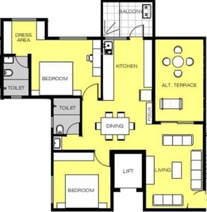 Rachana Meghsparsh (2BHK+2T (1,100 sq ft) Apartment 1100 sq ft)