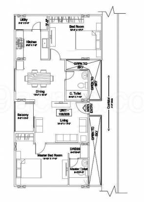 GR Maithri (2BHK+2T (1,257 sq ft) Apartment 1257 sq ft)