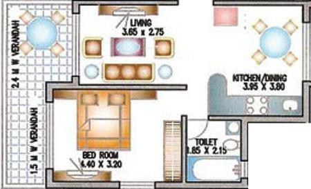 Prabhat Jade Garden (1BHK+1T (807 sq ft) Apartment 807 sq ft)