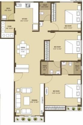 Merlin Arham (3BHK+3T (1,593 sq ft) Apartment 1593 sq ft)