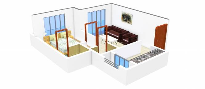 Tejas Omkar (1BHK+1T (454 sq ft) Apartment 454 sq ft)