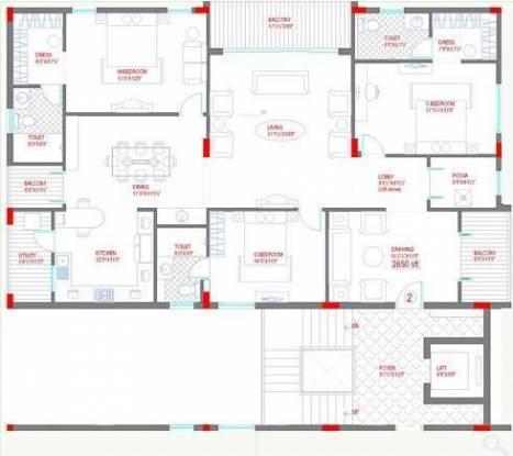 Lahari Benz (3BHK+3T (2,653 sq ft) Apartment 2653 sq ft)