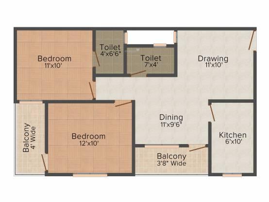 Sheetal Heights (2BHK+2T (900 sq ft) Apartment 900 sq ft)