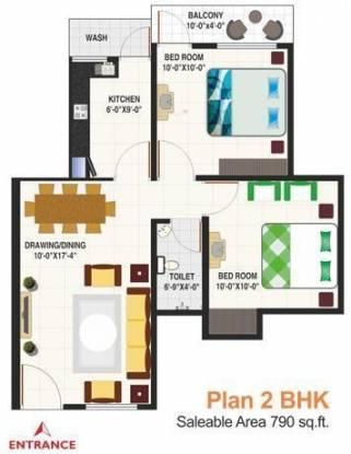 IBD Royal Citii (2BHK+2T (790 sq ft) Apartment 790 sq ft)