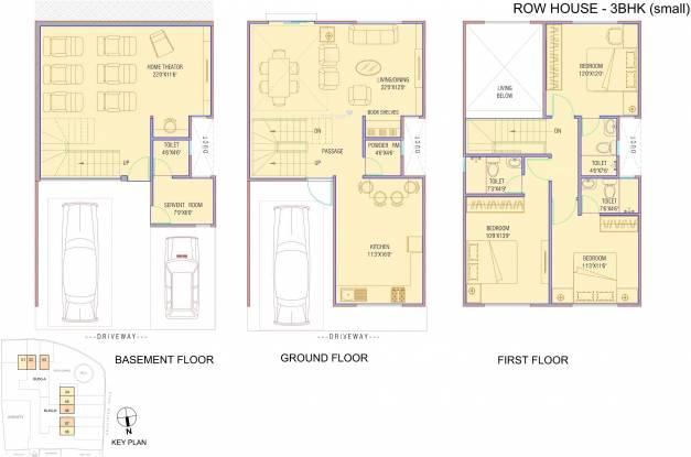 Pinnacle Cottage Close Villa (3BHK+4T (2,394 sq ft)   Servant Room Villa 2394 sq ft)